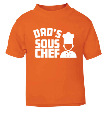 Dad's sous chef orange baby toddler Tshirt 2 Years