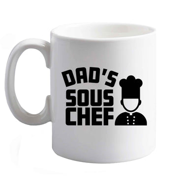 10 oz Dad's sous chef ceramic mug right handed