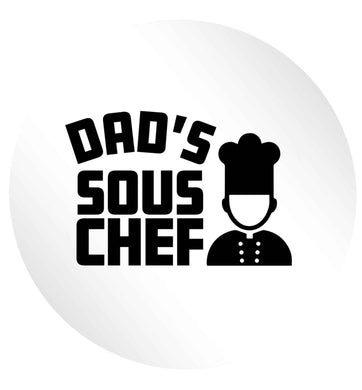 Dad's sous chef 24 @ 45mm matt circle stickers