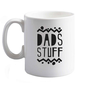 10 oz Dads stuff ceramic mug right handed