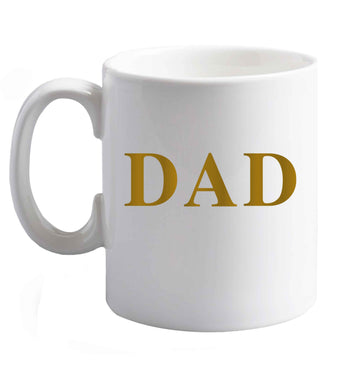 10 oz Dad ceramic mug right handed