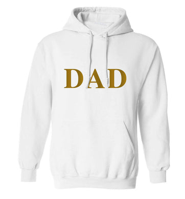 Dad adults unisex white hoodie 2XL