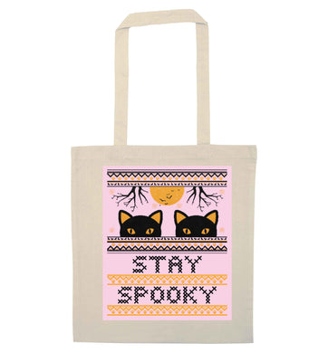 Stay spooky natural tote bag