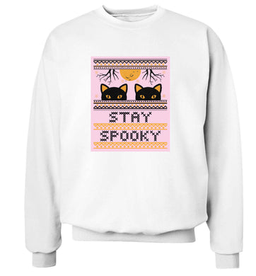Stay spooky adult's unisex white sweater 2XL