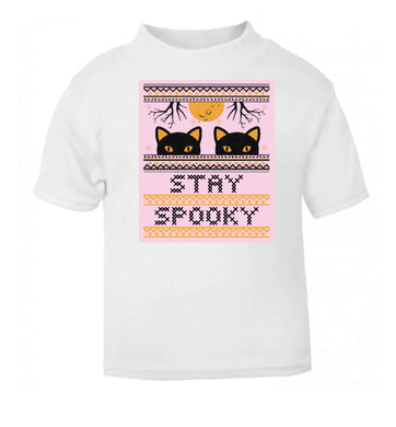 Stay spooky white baby toddler Tshirt 2 Years