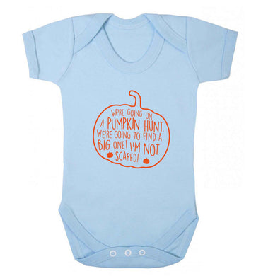 We're going on a pumpkin hunt baby vest pale blue 18-24 months