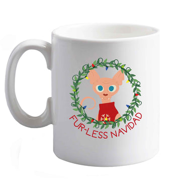 10 oz Furr-less navidad  ceramic mug right handed