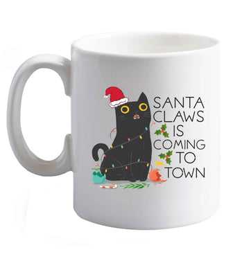 10 oz Santa claws is coming to town  ceramic mug right handed