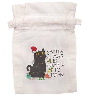 Santa claws is coming to town  | XS - L | Pouch / Drawstring bag / Sack | Organic Cotton | Bulk discounts available!