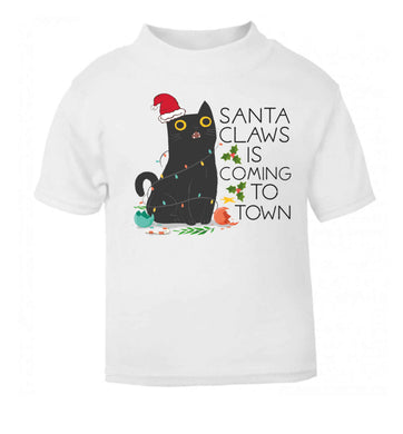Santa claws is coming to town  baby toddler Tshirt 2 Years