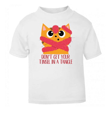 Don't get your tinsel in a tangle baby toddler Tshirt 2 Years