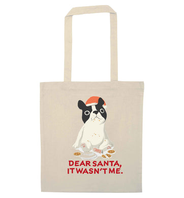 Dear Santa it wasn't me natural tote bag