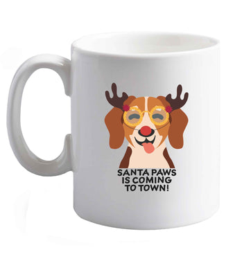 10 oz Santa paws is coming to town ceramic mug right handed