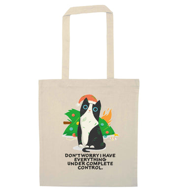 Don't worry I have everything under complete control natural tote bag