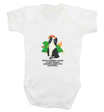 Don't worry I have everything under complete control baby vest white 18-24 months