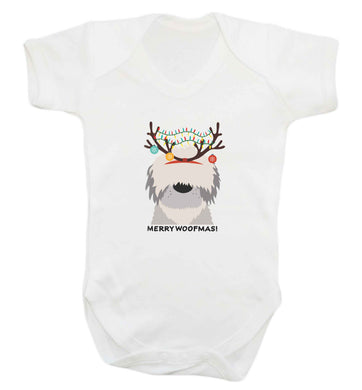 Merry Woofmas! baby vest white 18-24 months