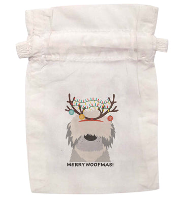 Merry Woofmas! | XS - L | Pouch / Drawstring bag / Sack | Organic Cotton | Bulk discounts available!