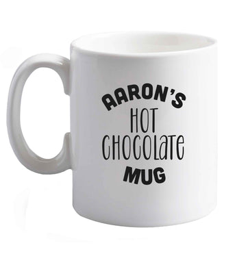 10 oz Personalised hot chocolate ceramic mug right handed