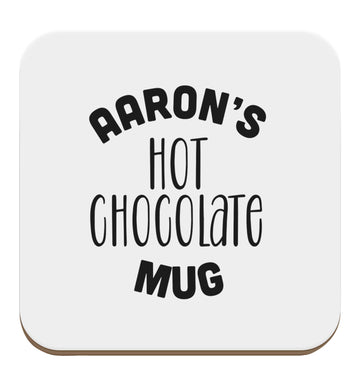 Personalised hot chocolate set of four coasters