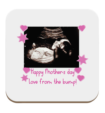Happy Mother's day love from the bump - pink  set of four coasters