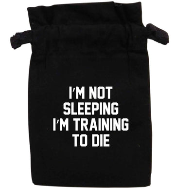 I'm not sleeping I'm training to die | XS - L | Pouch / Drawstring bag / Sack | Organic Cotton | Bulk discounts available!