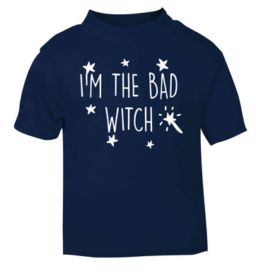 Bad witch navy baby toddler Tshirt 2 Years