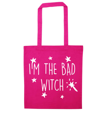 Bad witch pink tote bag