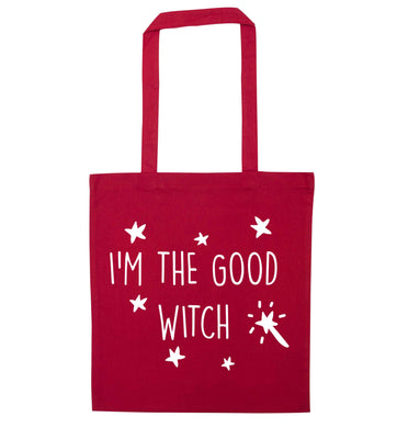 Good witch red tote bag