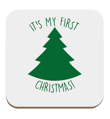 It's my first Christmas - tree set of four coasters