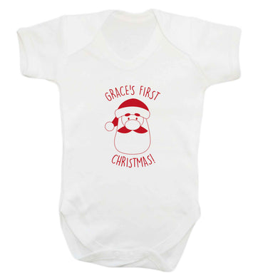 Personalised first Christmas - santa baby vest white 18-24 months