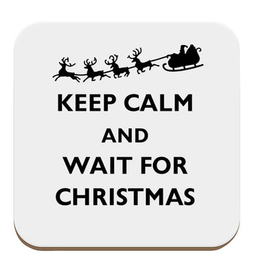 Keep calm and wait for Christmas set of four coasters