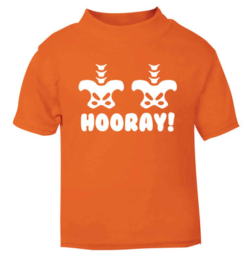 Hip Hip Hooray! orange baby toddler Tshirt 2 Years