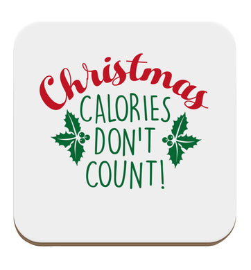 Christmas calories don't count set of four coasters