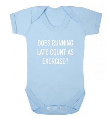 Does running late count as exercise? baby vest pale blue 18-24 months