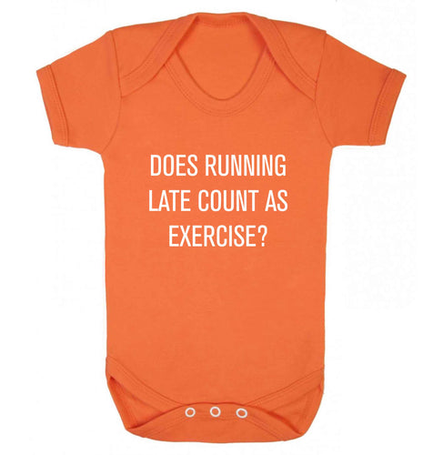 Does running late count as exercise? baby vest orange 18-24 months