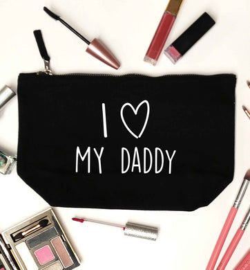 I love my daddy black makeup bag