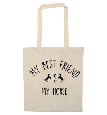 My best friend is my horse natural tote bag