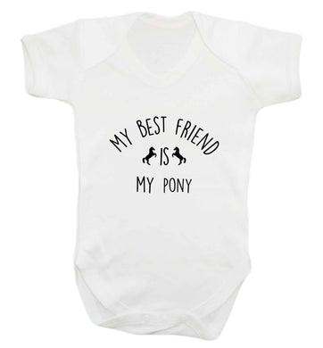 My best friend is my pony baby vest white 18-24 months