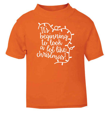 It's beginning to look a lot like Christmas orange baby toddler Tshirt 2 Years
