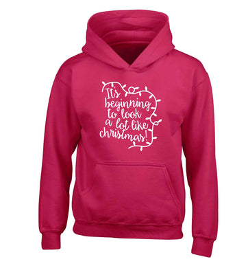 It's beginning to look a lot like Christmas children's pink hoodie 12-13 Years