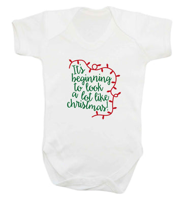 It's beginning to look a lot like Christmas baby vest white 18-24 months