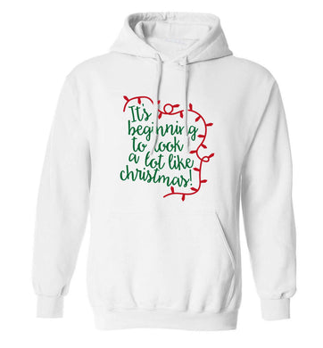 It's beginning to look a lot like Christmas adults unisex white hoodie 2XL