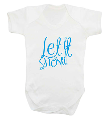 Let it snow baby vest white 18-24 months