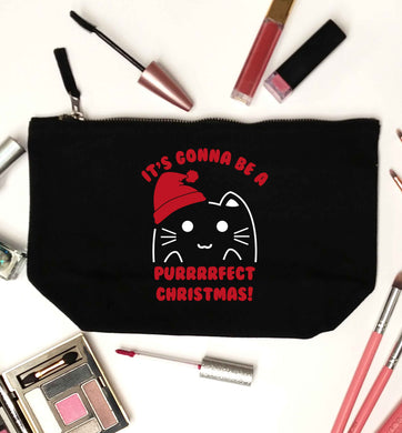 It's going to be a purrfect Christmas black makeup bag