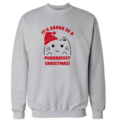 It's going to be a purrfect Christmas adult's unisex grey sweater 2XL