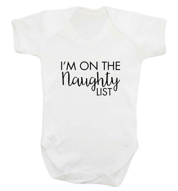 I'm on the naughty list baby vest white 18-24 months