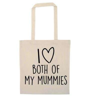 I love both of my mummies natural tote bag