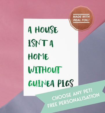 a house isn't a home without guinea pigs foiled print for the home