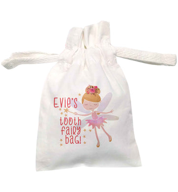Personalised tooth fairy bag | XS drawstring pouch | Organic Cotton Bag