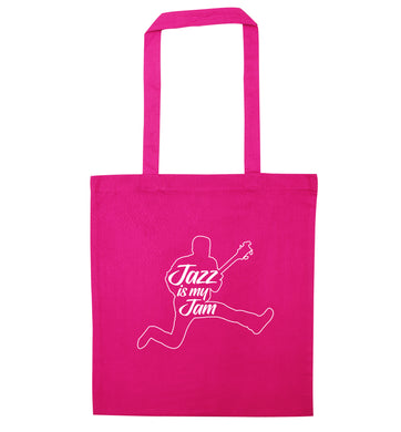 Jazz is my jam pink tote bag